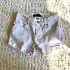 UO BDG White Shortie Jean Shorts